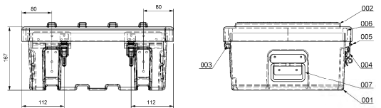 Briefcase spare parts type B